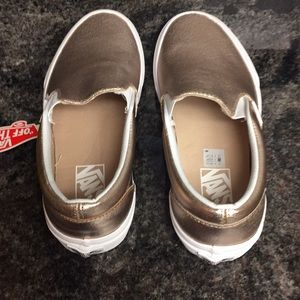 8ee81e14a75 Vans Shoes - Vans Classic Slip On Leather Rose Gold Shoes